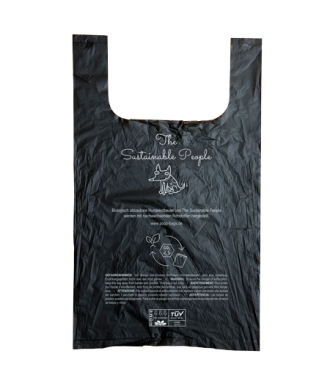 Biologisch abbaubarer Hundekotbeutel in schwarz