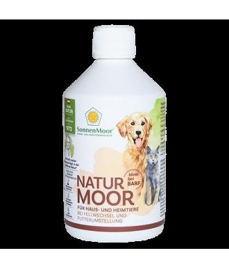 Flüssiges Naturmoor Ergänzungsfuttermittel für Hunde, 500ml Flasche