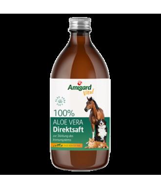 Aloe Vera 100% Direktsaft als Bio-Futtergänzungsmittel für Hunde & Katzen von Amigard