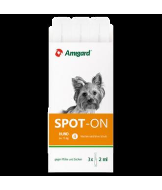 Spot-On Zeckenschutzmittel für Hunde bis 15kg für drei Monate Anwendung hergestellt von Amigard