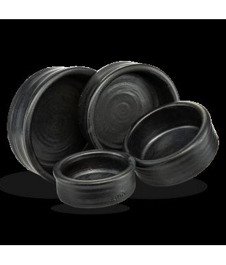 Keramiknapf Harmonie in schwarz anthrazit von naftie