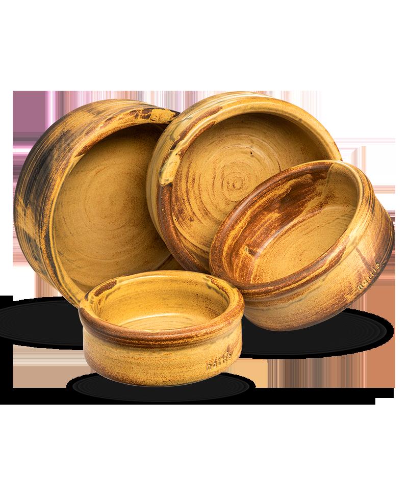 Keramiknapf Erdkraft in gelb braun von naftie