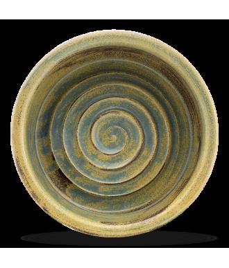 Hundenapf & Katzennapf aus Keramik in grün blau mit hohem Rand und rutschfest