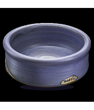 Hundenapf & Katzennapf aus Keramik in blau mit hohem Rand und persönlichem Namesdruck