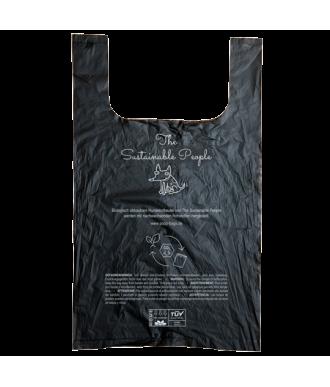 Schwarzer Hundekotbeutel mit Henkeln, kompostierbar