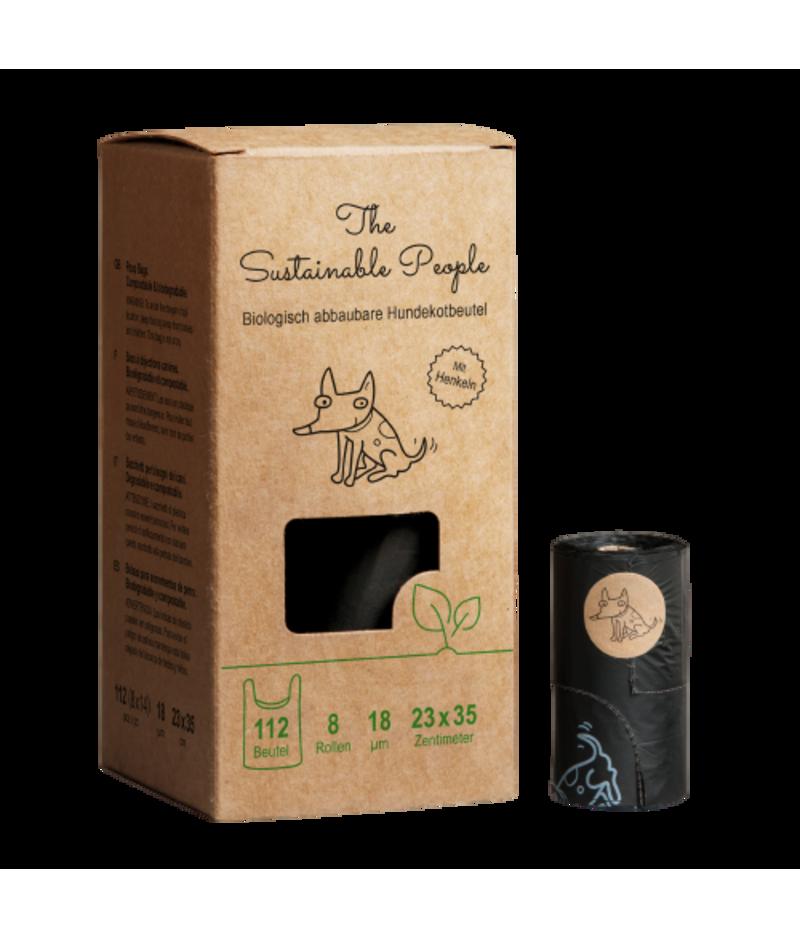 Bio Hundekotbeutel von The Sustainable People mit Henkel, 112 Stück