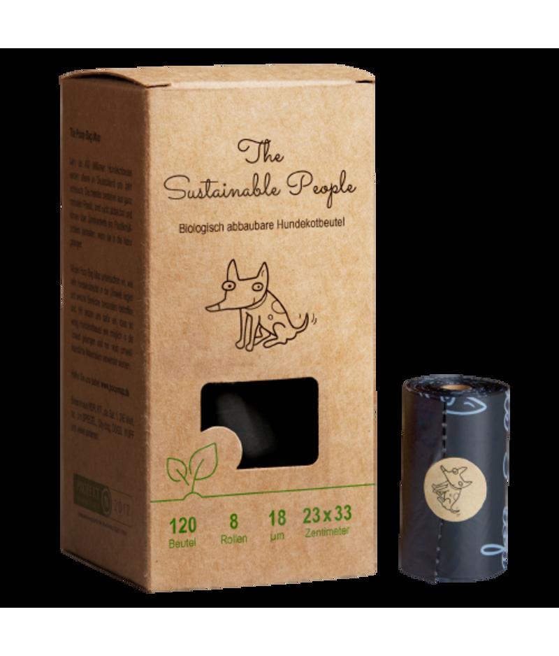 Kompostierbare Hundekotbeutel von The Sustainable People in umweltfreundlicher Karton-Verpackung