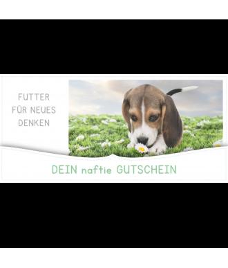 Geschenkgutschein für Hundefutter von naftie für jeden Anlass